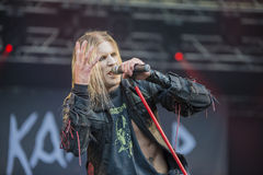 Tons of Rock, Kampfar (day 3). Kampfar is a black metal band from Fredrikstad, Norway. According to their singer, Dolk, their name is an ancient Norse battle cry Stock Images