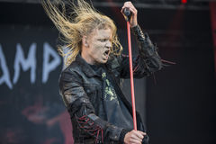 Tons of Rock, Kampfar (day 3). Kampfar is a black metal band from Fredrikstad, Norway. According to their singer, Dolk, their name is an ancient Norse battle cry Royalty Free Stock Image