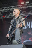 Tons of Rock, Kampfar (day 3). Kampfar is a black metal band from Fredrikstad, Norway. According to their singer, Dolk, their name is an ancient Norse battle cry Stock Photos