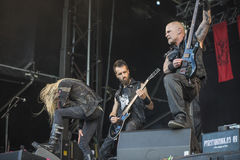 Tons of Rock, Kampfar (day 3). Kampfar is a black metal band from Fredrikstad, Norway. According to their singer, Dolk, their name is an ancient Norse battle cry Royalty Free Stock Images