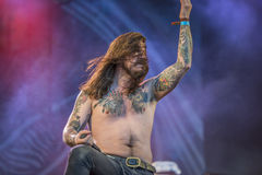 Tons of Rock, Kvelertak (day 1). Kvelertak (Norwegian for stranglehold or chokehold) is a six-piece metal band from Stavanger. The group comprises vocalist Royalty Free Stock Photography