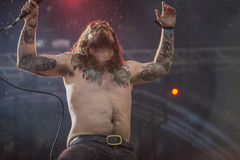 Tons of Rock, Kvelertak (day 1). Kvelertak (Norwegian for stranglehold or chokehold) is a six-piece metal band from Stavanger. The group comprises vocalist Stock Image