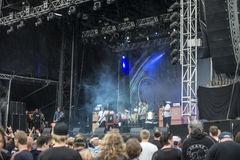 Tons of Rock, Kvelertak (day 1). Kvelertak (Norwegian for stranglehold or chokehold) is a six-piece metal band from Stavanger. The group comprises vocalist Stock Photo