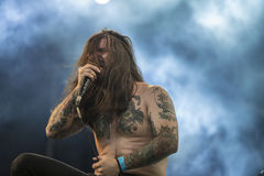 Tons of Rock 2014, Kvelertak Royalty Free Stock Photo