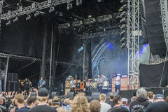 Tons of Rock 2014, Kvelertak Stock Photo