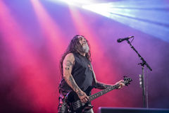 Tons of Rock, Slayer (day 3). Slayer is a Grammy Award winning American heavy metal thrash metal band founded in Huntington Park, California, in 1981 by Tom Royalty Free Stock Images