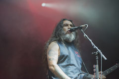 Tons of Rock, Slayer (day 3). Slayer is a Grammy Award winning American heavy metal thrash metal band founded in Huntington Park, California, in 1981 by Tom Stock Photography
