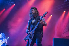 Tons of Rock, Slayer (day 3). Slayer is a Grammy Award winning American heavy metal thrash metal band founded in Huntington Park, California, in 1981 by Tom Royalty Free Stock Image