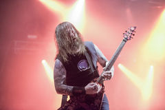 Tons of Rock, Slayer (day 3). Slayer is a Grammy Award winning American heavy metal thrash metal band founded in Huntington Park, California, in 1981 by Tom Royalty Free Stock Photos