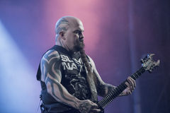 Tons of Rock, Slayer (day 3). Slayer is a Grammy Award winning American heavy metal thrash metal band founded in Huntington Park, California, in 1981 by Tom Royalty Free Stock Photo