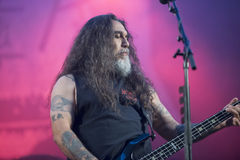 Tons of Rock, Slayer (day 3). Slayer is a Grammy Award winning American heavy metal thrash metal band founded in Huntington Park, California, in 1981 by Tom Royalty Free Stock Photography