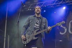 Tons of Rock 2014, Soilwork Royalty Free Stock Photos