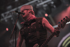 Tons of Rock, Turbonegro (day 2). Turbonegro is a Norwegian punk rock band, initially active from 1989 to 1998, then reformed in 2002. Their style combines glam Stock Photo