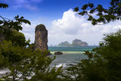Tonsai海湾。 免版税库存照片