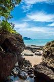 Tonsai海滩在Railay,泰国 免版税库存图片