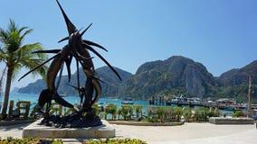 Tonsai bay on ko phi phi Royalty Free Stock Photo