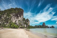 Tonsai beach in Thailand Stock Photos