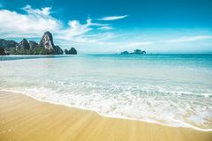 Tonsai beach in Thailand Stock Image
