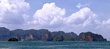 Tonsai beach, West Railay beach and Phra Nang beach. In the Andaman Sea, province of Krabi, Thailand stock photo