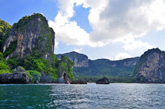 Tonsai-Bucht zwischen AO Nang und Railay lizenzfreie stockfotografie