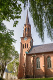 Tonsberg - Norway. Tonsberg, Norway - July 24, 2016: Tonsberg Cathedral in Norway is a Lutheran church in the Church of Norway and is built over the ruins of St Royalty Free Stock Image