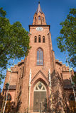Tonsberg - Norway. Tonsberg, Norway - July 24, 2016: Tonsberg Cathedral in Norway is a Lutheran church in the Church of Norway and is built over the ruins of St Royalty Free Stock Photos