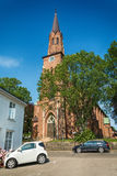 Tonsberg - Norway. Tonsberg, Norway - July 24, 2016: Tonsberg Cathedral in Norway is a Lutheran church in the Church of Norway and is built over the ruins of St Stock Photography