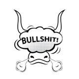¡TONTERÍAS! Burbuja cómica del discurso, historieta Imagen de archivo libre de regalías