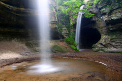 Tonti Canyon Falls - Illinois Stock Photo