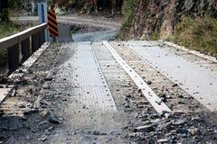 Tonto向工作员` s小河度假区的国家森林路,希拉县亚利桑那 免版税库存图片