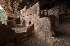 Tonto cliff dwelling in arizona Royalty Free Stock Photography