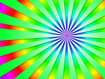 Tonto futurista colorido de Dizzy Striped Tunnel Background Shows Imagem de Stock