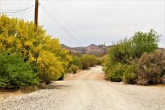 Tonto National Forest, United States Department of Agriculture Forest Service. Scenic desert landscape view of the Tonto National Forest in Maricopa County Royalty Free Stock Image