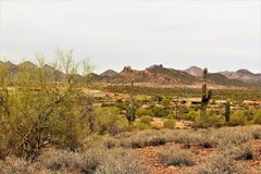 Tonto National Forest, United States Department of Agriculture Forest Service. Scenic desert landscape view of the Tonto National Forest in Maricopa County Stock Photography