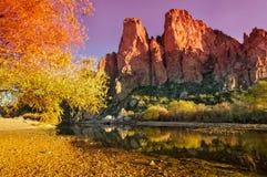 Tonto nationalparkAz kanjon Arkivfoto