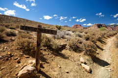 Tonto West Trail sign in the Grand Canyon Stock Images