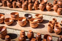 Tonwaren der römischen Art Stockfotos
