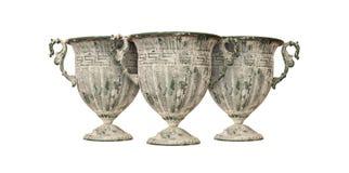 Tonwaren - drei schöne antike Vasen Lizenzfreie Stockfotos