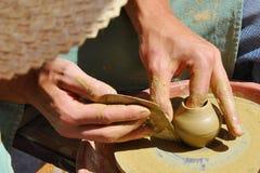 Tonwaren handcraft Nahaufnahme Stockbild