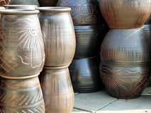 Tonwaren, Terrakotta Nakhonratchasima Thailand Lizenzfreies Stockfoto
