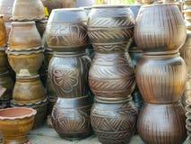 Tonwaren, Terrakotta Nakhonratchasima Thailand Stockfotos