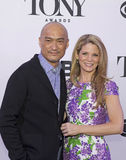 2015 Tony Awards Meet the Nominees Press Junket. Actors Ken Watanabe and Kelli O'Hara arrive on the red carpet for the 2015 Tony Awards Meet the Nominees Press Stock Images