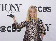 2015 Tony Awards Meet the Nominees Press Junket. Actress/singer/entertainer Kristin Chenoweth arrives on the red carpet for the 2015 Tony Awards Meet the Royalty Free Stock Photo