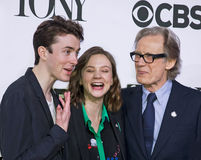 2015 Tony Awards Meet the Nominees Press Junket. English film and stage actors Matthew Beard, Carey Mulligan, and Bill Nighy arrive on the red carpet for the Royalty Free Stock Photography