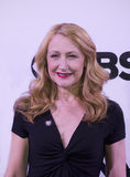 2015 Tony Awards Meet the Nominees Press Junket. Film and stage actress Patricia Clarkson, known as Queen of the Indies, arrives on the red carpet for the 2015 Royalty Free Stock Photos