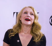 2015 Tony Awards Meet the Nominees Press Junket. Film and stage actress Patricia Clarkson, known as Queen of the Indies, arrives on the red carpet for the 2015 Stock Photos