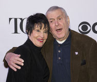 2015 Tony Awards Meet the Nominees Press Junket. Legendary musical stage actress/dancer Chita Rivera and award-winning composer John Kander arrive on the red Stock Photo