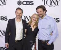 Tony Awards Meet 2015 o representante da imprensa dos candidatos Fotografia de Stock