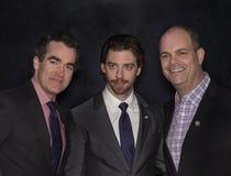 Tony Awards Meet 2015 o representante da imprensa dos candidatos Imagens de Stock