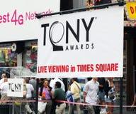 Tony Awardzeichen Lizenzfreie Stockfotografie